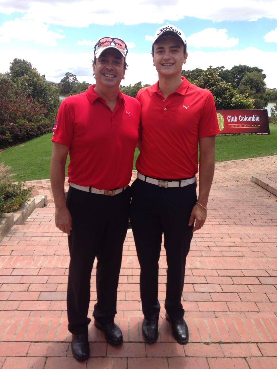 Andrés Valderrama y Felipe Valderrama, ganadores de la primera parada del Club Colombia Tour // Foto: GolfLink