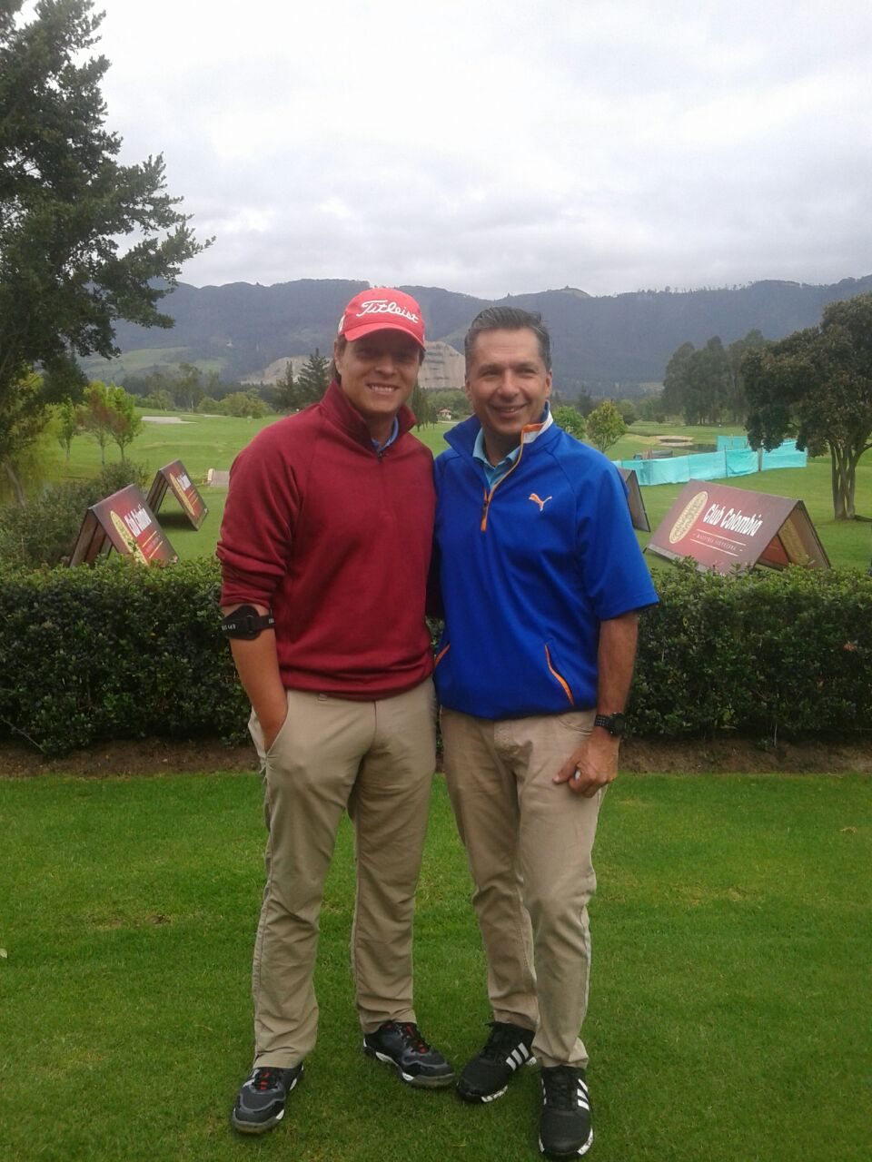 Iván Vivas y William Briceño, ganadores del Club Colombia Tour en el Club Hatogrande