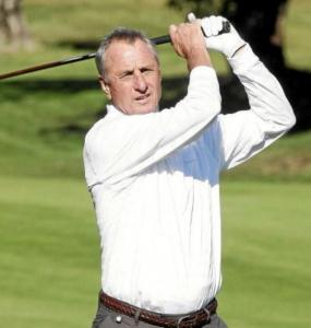 Cruyff también fue ídolo en el golf