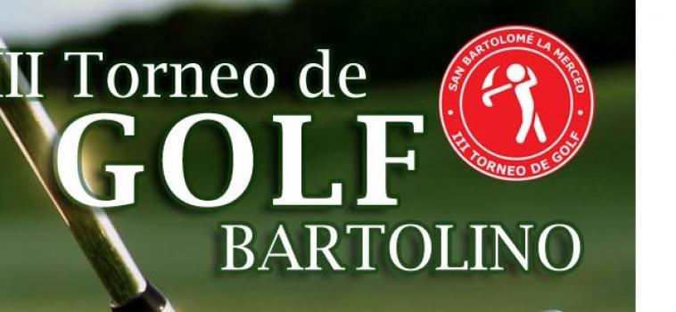 """III Torneo Bartolino de Golf """"Integración y Solidaridad"""""""